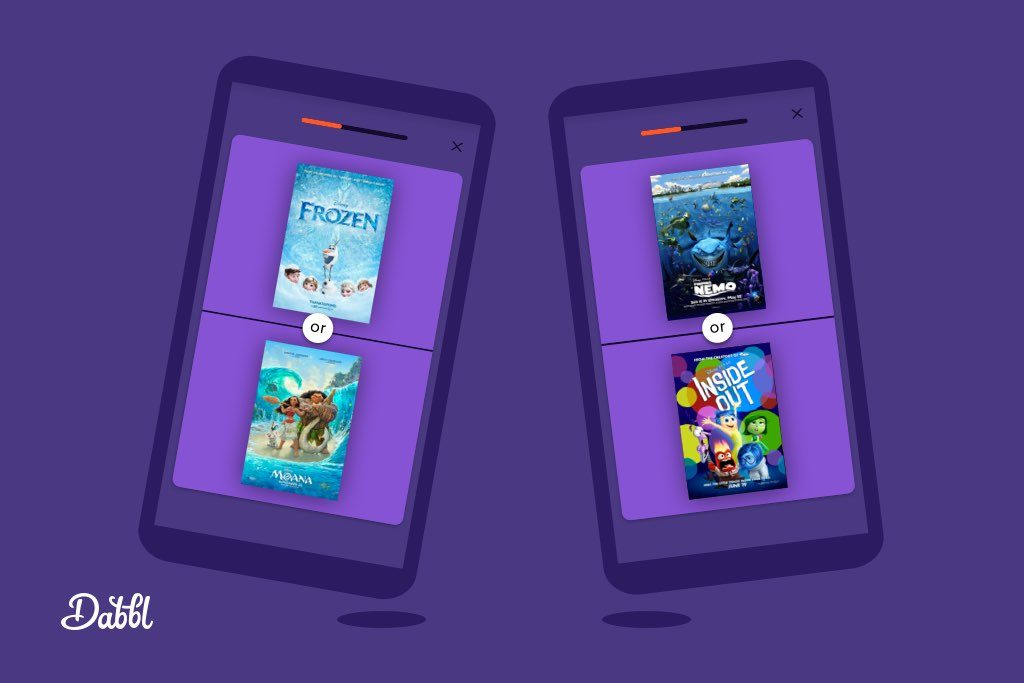 Dabbl app and Disney vs Pixar movies