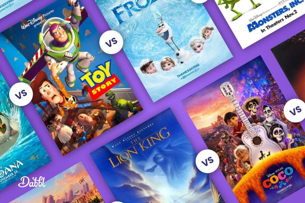 Disney movies vs Pixar movies, which is best?